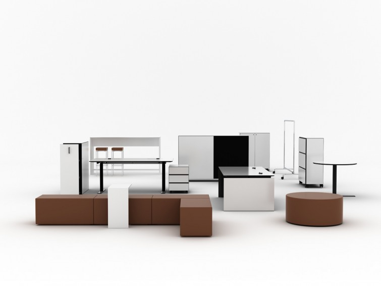 BLACKBOX office furniture 2.0 1800 by Lars Vejen for Jensenplus