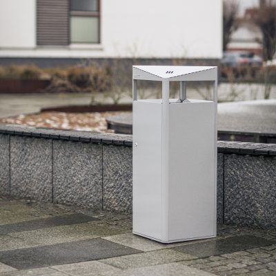 Steel litter bins PROOF designed by Lars Vejen for Veksoe