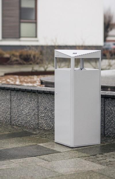 Steel litter bins PROOF designed by Lars Vejen for Veksoe