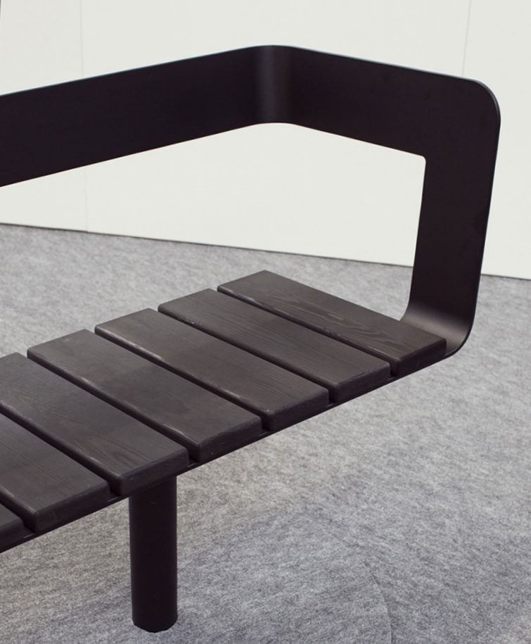 Lars Vejen SPIN bench for HAGS Photo by northmodern august 2016