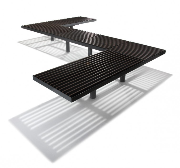 GRID modular bench by Lars Vejen for HAGS