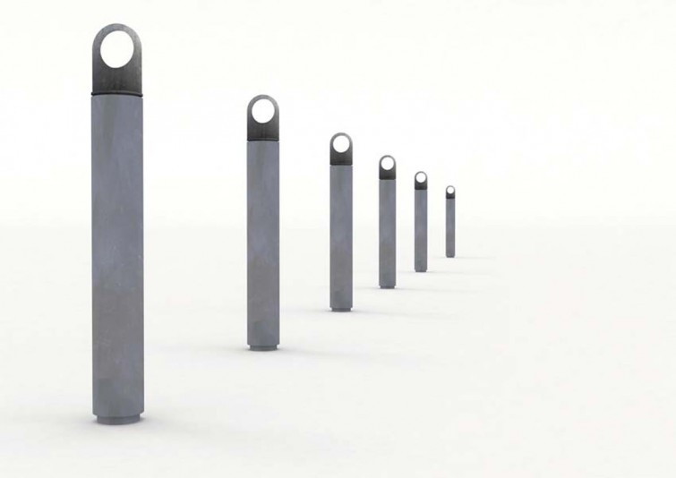 SOLID outdoor concrete furniture bicycle stand by Lars Vejen for Veksoe