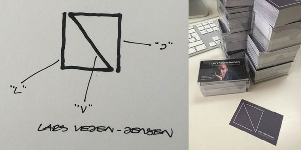 Lars Vejen House of Cards combined sketch and photo