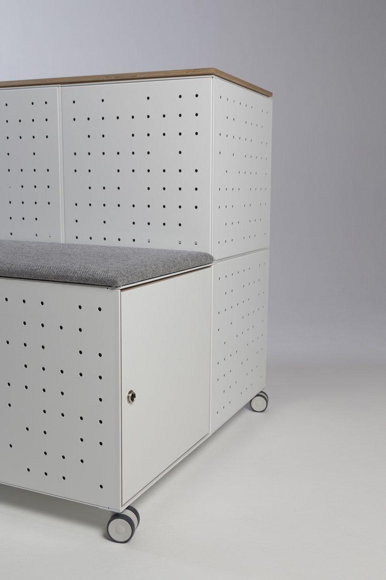 BRICKS modular steel furniture by Lars  Vejen for FILOSA