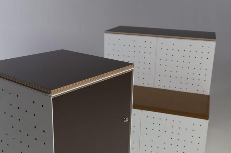 BRICKS modular steel furniture by Lars  Vejen for FILOSA Ninni Vidgren, 2017