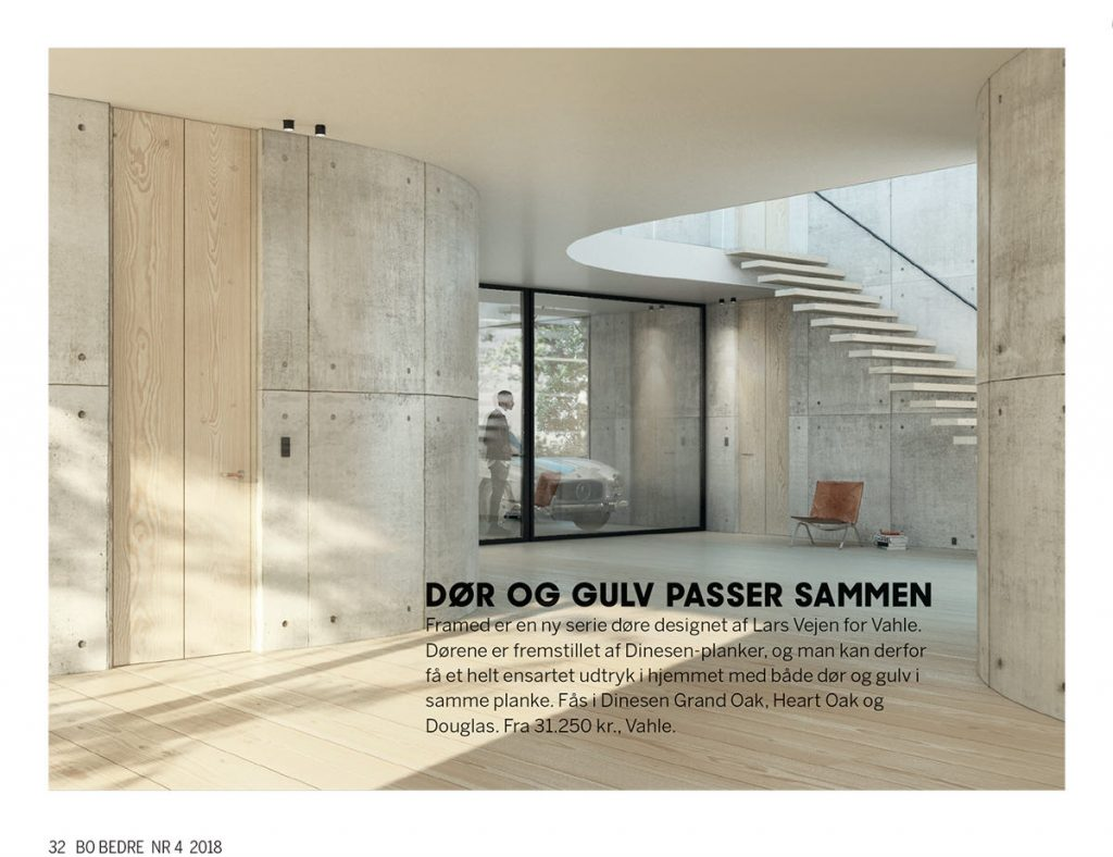 Bo Bedre nyheder Design Studio Lars Vejen Dinesen FRAMED by Vahle dør ARDESS